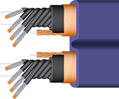 Wireworld Aurora 7 Power Conditioning Cord cutaway, best, high-end, shielded, audiophile, videophile